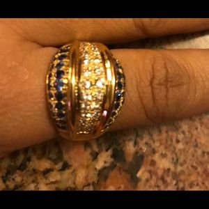 14k ring with diamonds